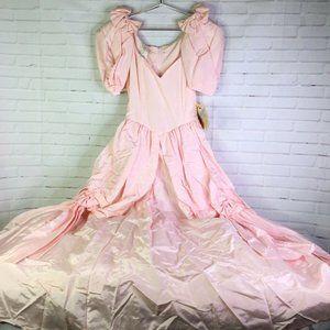 VTG Gunne Sax Jessica McClintock Gown Dress Pink